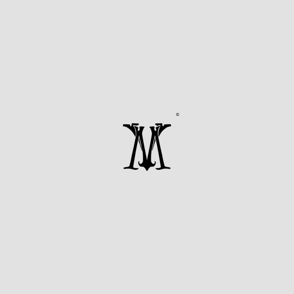 Monograma con las letras V y M